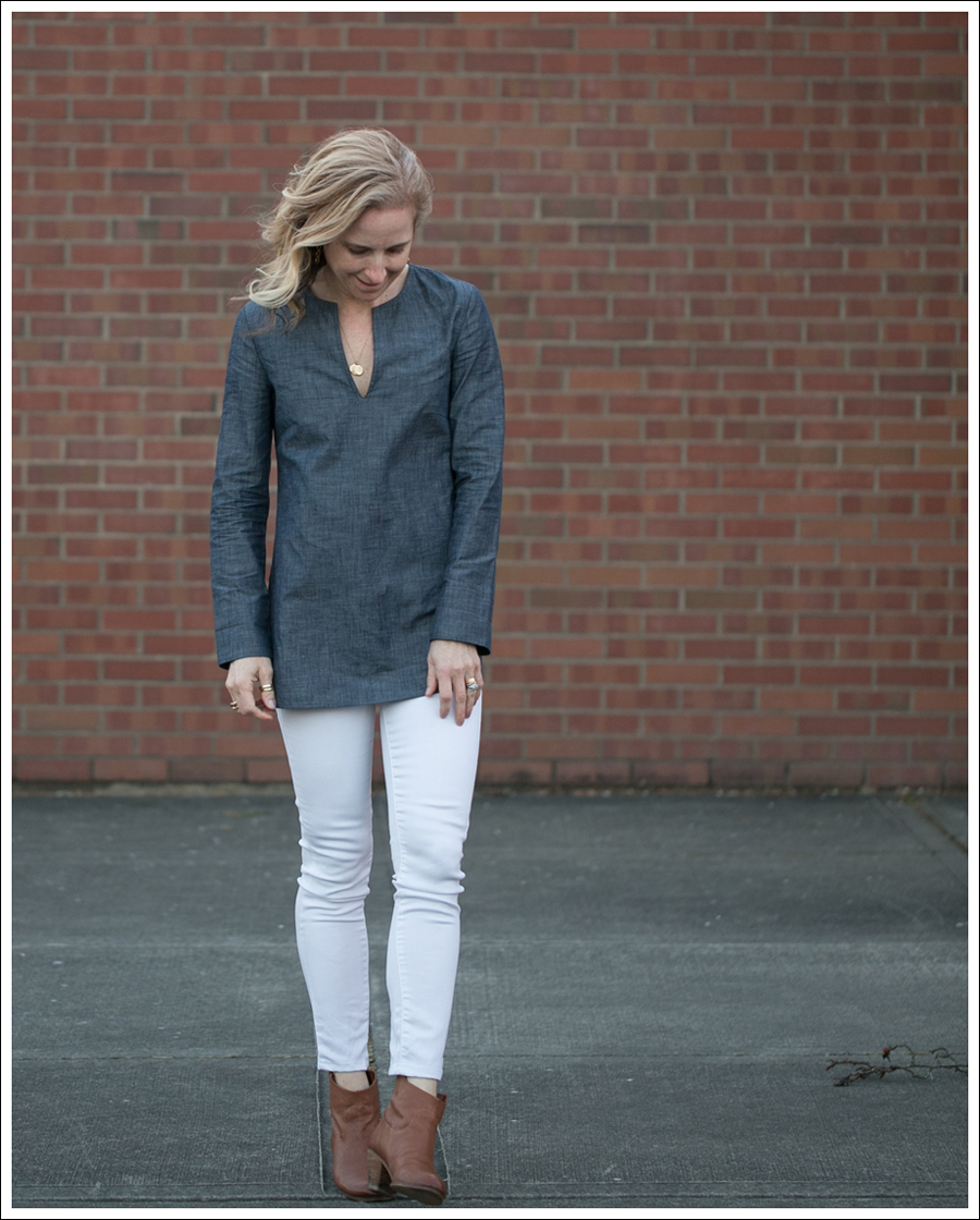 Blog J Crew Denim Tunic Genetic Denim White Shane Same Edelman Booties-3
