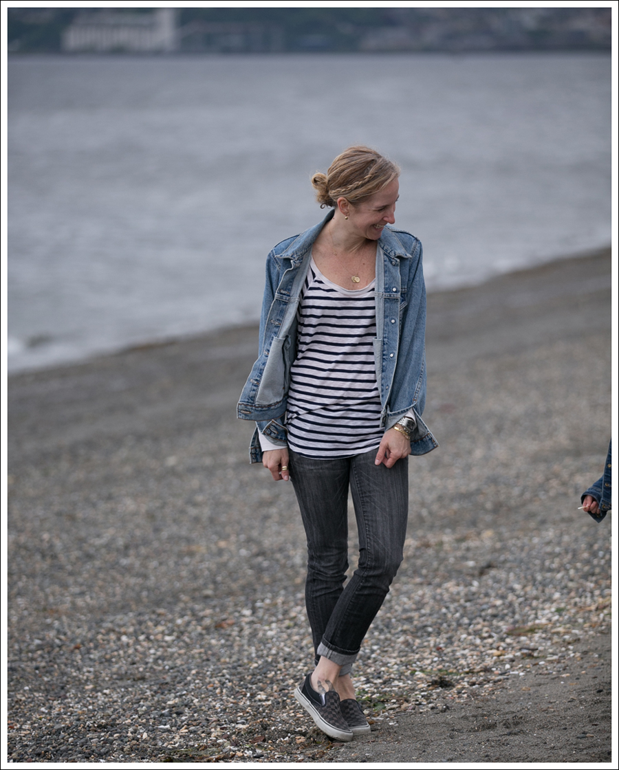 Blog Levis Jacket Splendid Striped Tee COH Gray Ava Checkered Vans-1