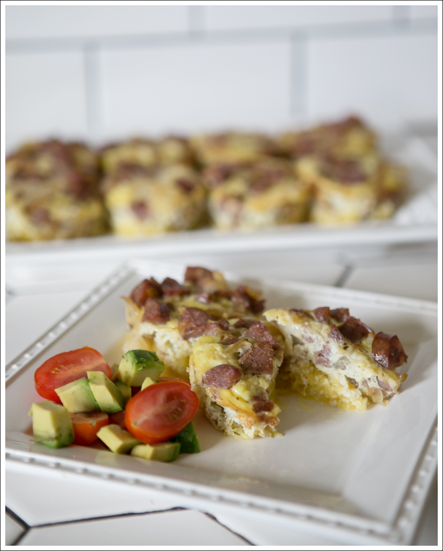 Blog Whole 30 Paleo Ginger Spaghetti Squash Chicken Sausage Egg Muffins-1