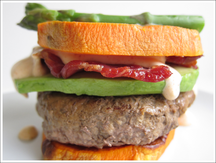 paleo bacon avocado sweetpotato burger blog (1)