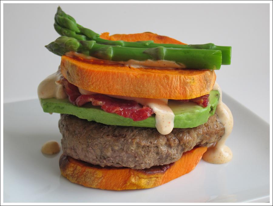 paleo bacon avocado sweetpotato burger blog (2)