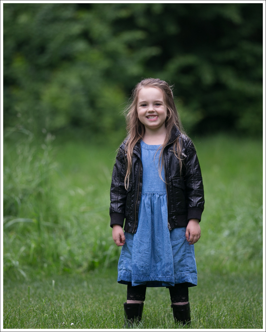 Blog HM Faux Leather Jacket GapKids Chambray Dress Joseph Allen Moto Boots-2