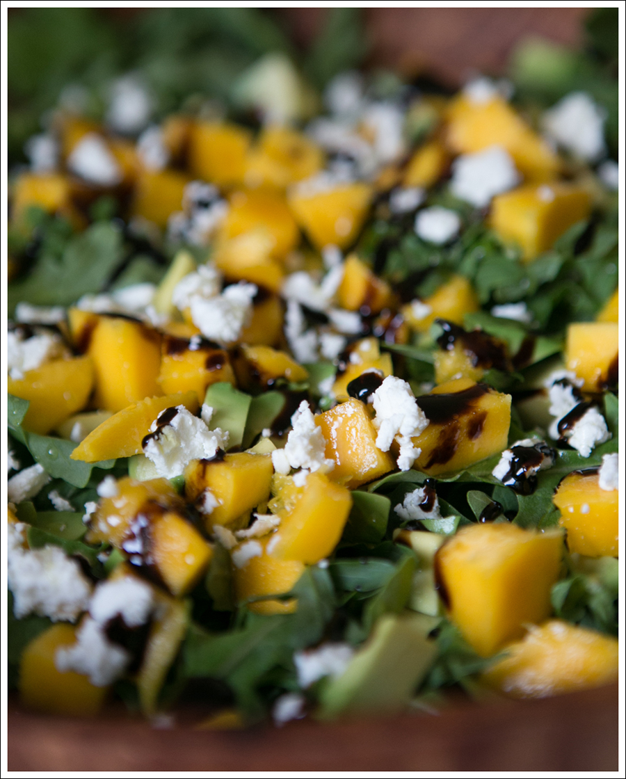 Blog Mango Avocado Goat Cheese Arugula Salad-2