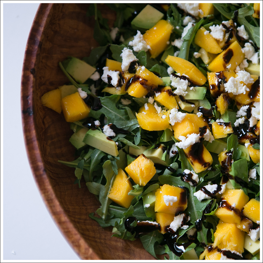 Blog Mango Avocado Goat Cheese Arugula Salad-3