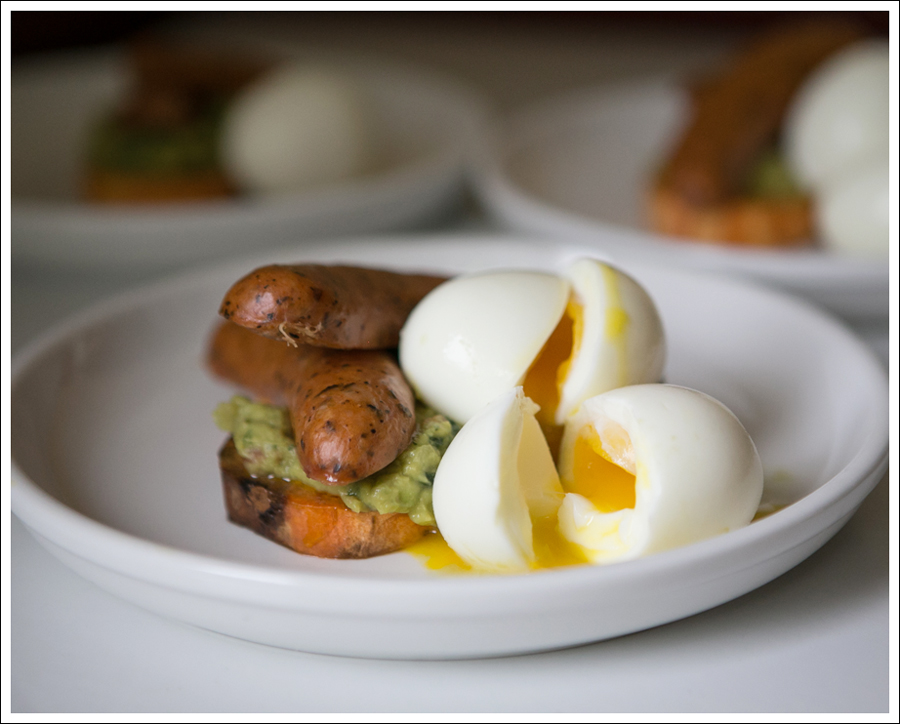 Blog Sweet Potato Guacamole Chicken Sausage Soft Boiled Egg Whole30 Paleo Gluten Free-1