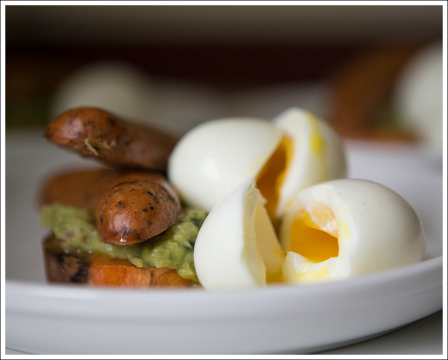 Blog Sweet Potato Guacamole Chicken Sausage Soft Boiled Egg Whole30 Paleo Gluten Free-2