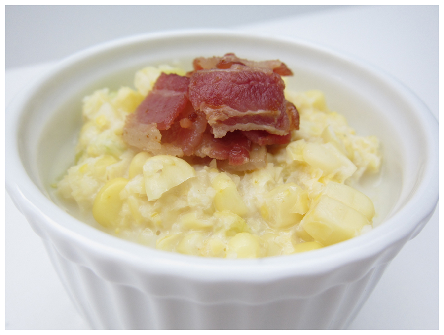 creamed corn with bacon and leeks blog