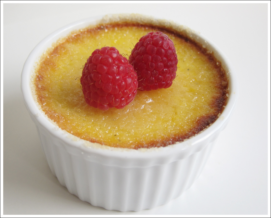honey creme brulee and raspberries blog (1)