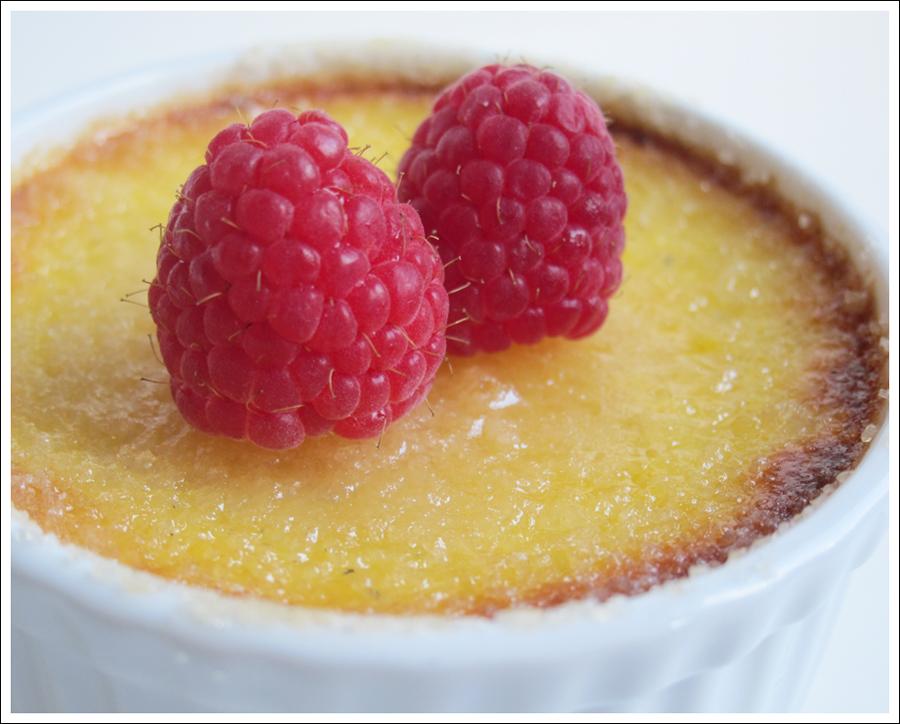 honey creme brulee and raspberries blog (2)