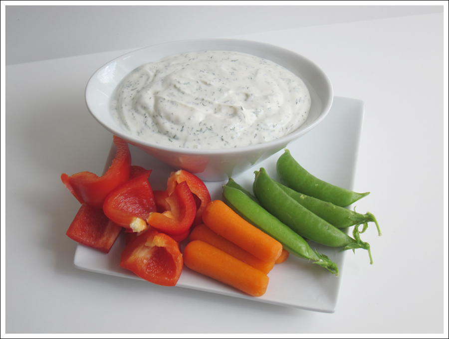 dill ranch dressing and veggies blog