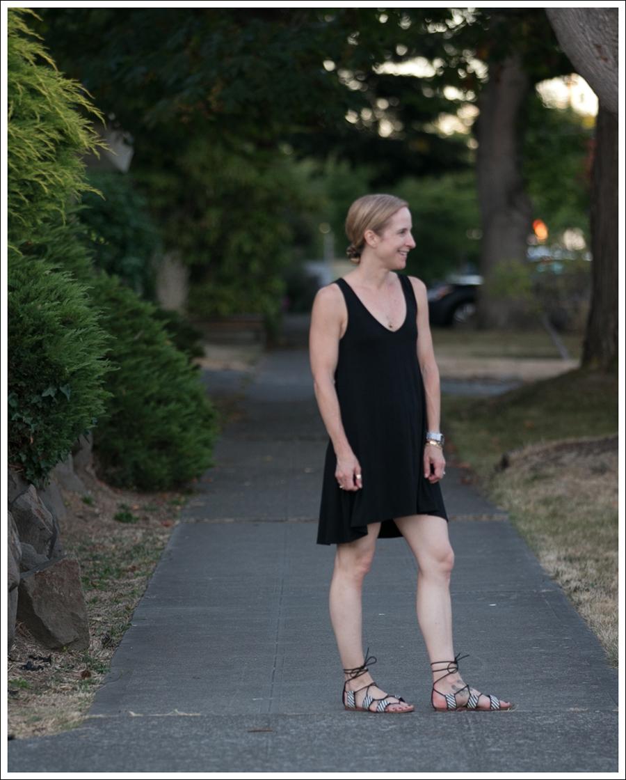 Blog Feel the Piece Dress Zara Lace Up Sandals-1