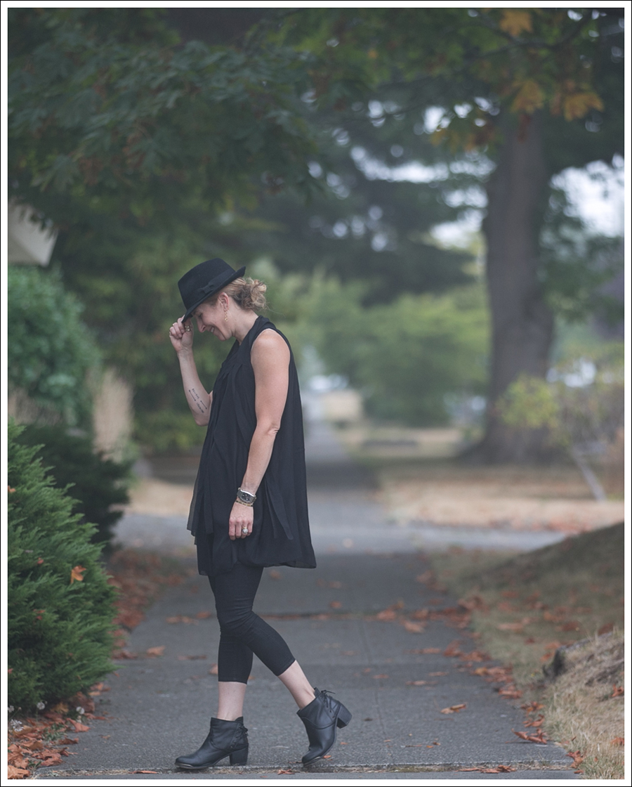 Blog HM Hat 28Twelve Black Dress Helmut Lang 67 Booties-2