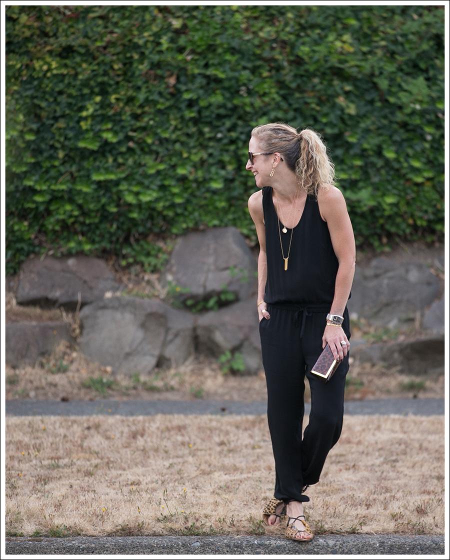 Blog Theory Lortan Jumpsuit Zara Leopard Tie Up Sandals-1