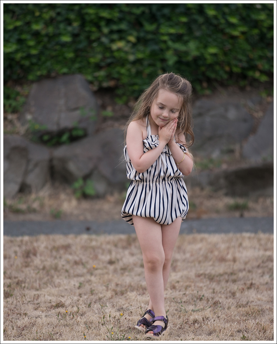 Blog Cru and Lu Striped Playsuit Purple Hanna Andersson Clogs-3