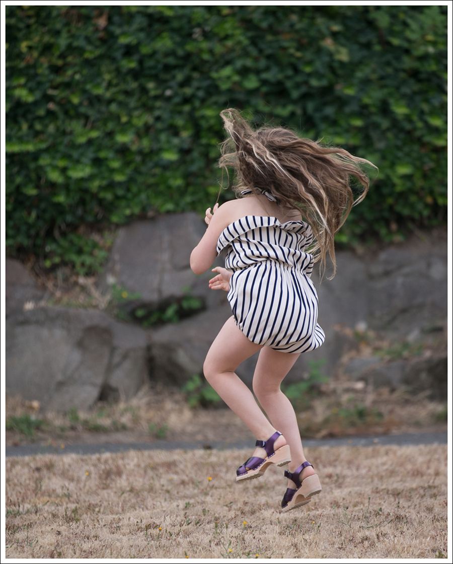 Blog Cru and Lu Striped Playsuit Purple Hanna Andersson Clogs-4