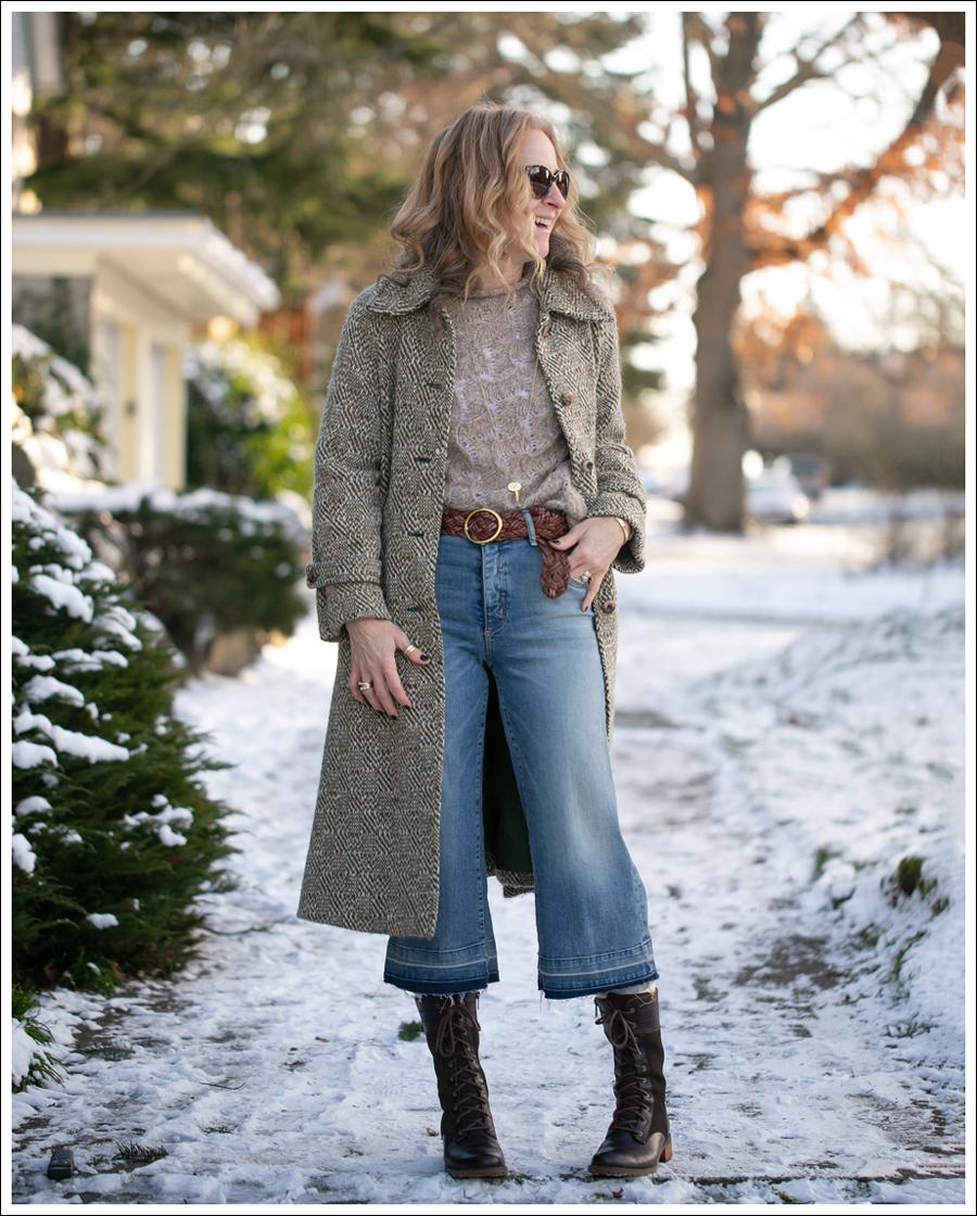 Tmestylechallenge Week 4 Make Wide Legged Crop Pants Work In Winter